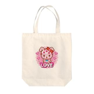 うさっちゃわんちゃん Tote bags