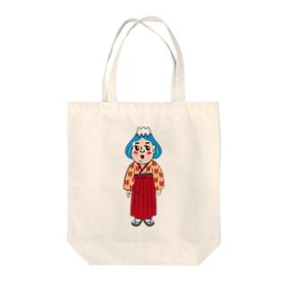 ふじ子さん Tote bags