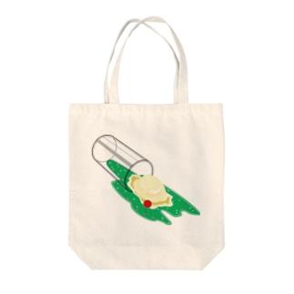 こぼれメロンソーダ Tote bags