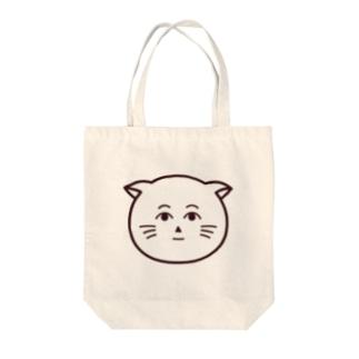 クールなネコヒトさん Tote bags