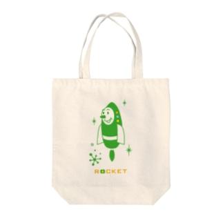 ロケットくん Tote bags