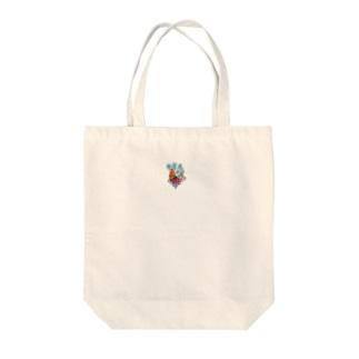 果物ドレスの魚(赤色) Tote bags