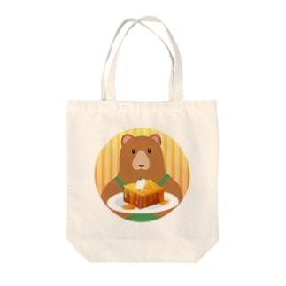 クマ店長のハニートースト Tote bags