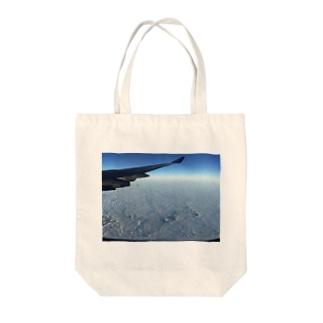 Hawaiiの上空だよ Tote bags