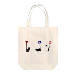 標識ねこ集合 Tote bags