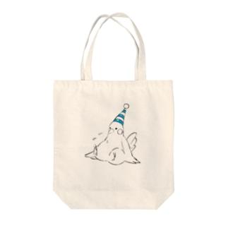 Sad bird Tote bags