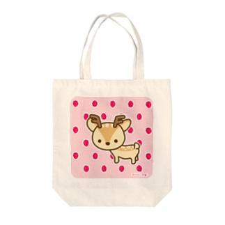 ボク鹿*strawberry Tote bags