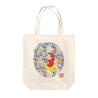 だるまちゃんと天使 in universe Tote bags