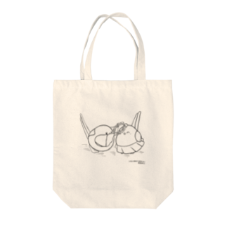 シマエナガの「ナガオくん」公式グッズ販売ページのナガオくんとシマエちゃん(白) トートバッグ