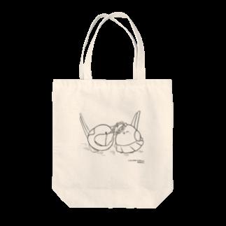シマエナガの「ナガオくん」公式グッズ販売ページのナガオくんとシマエちゃん(白) Tote bags