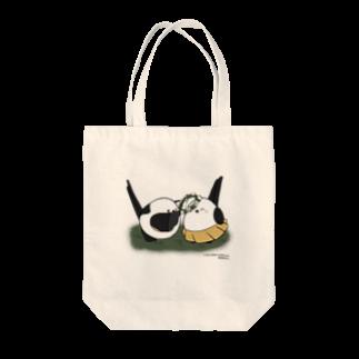 シマエナガの「ナガオくん」公式グッズ販売ページのナガオくんとシマエちゃん Tote bags
