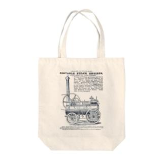 ポータブル蒸気機関の広告 - The British Library Tote bags