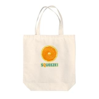 Squeeze!  Orange Tote bags