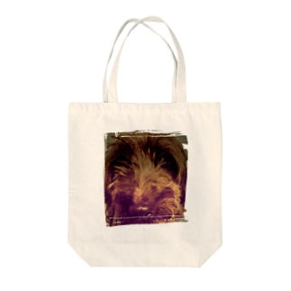 Dog Up to Face Tote bags