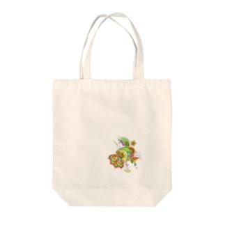 FLOWER #4 orange Tote bags