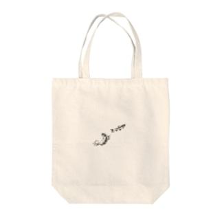 鮎の友釣り Tote bags