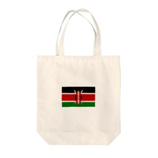ケニア 国旗 Tote bags