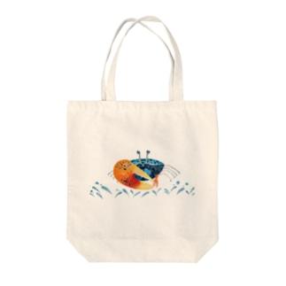 ルリマダラシオマネキ Tote bags