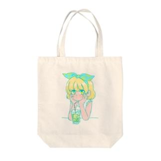なつのレモンちゃん Tote bags