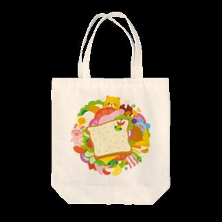 Illustrator イシグロフミカのサンドイッチ Tote bags