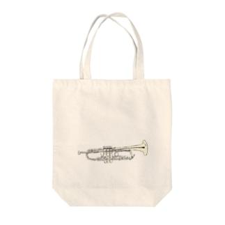 トランペット Tote bags