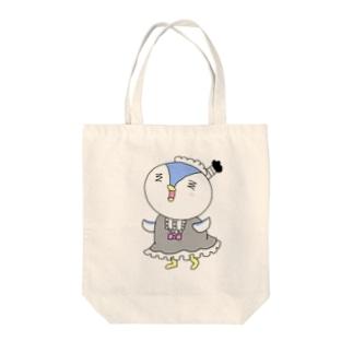 ペンギン侍のメイド姿 Tote bags