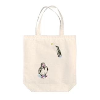 ペンギンちゃんとちょうちょ トートバッグ
