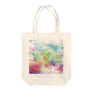 Flying Storms Tote bags