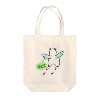 """かぴ天使 """"YES"""" Tote bags"""