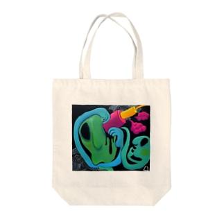 「マクロフォーカス」 Tote bags