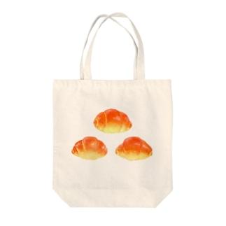 イラストによる食卓。3つのロールパン Tote bags