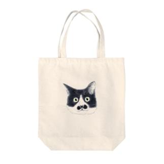 おヒゲちゃん Tote bags