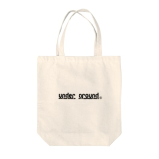 UNDER GROUND Tote bags