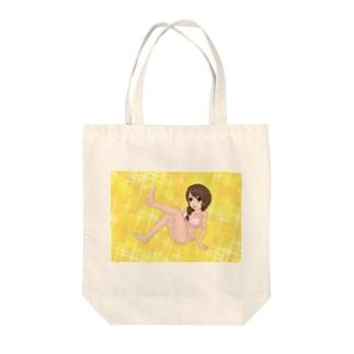 萌え三つ編みピンク水着キラキラ Tote bags