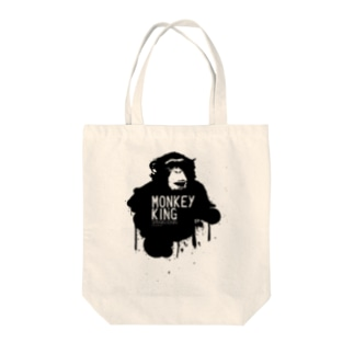 MONKEY KING_BLACK Tote bags