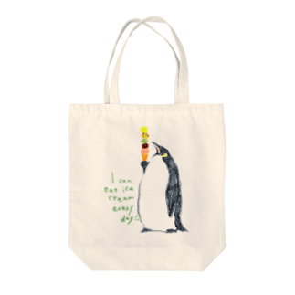 It is Tomfy here.のペンギンとアイス Tote bags