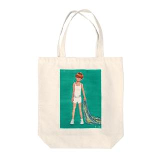 =AURORA= 星空の毛布 Tote bags