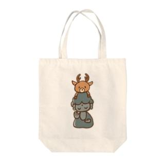鹿と大仏さん Tote bags