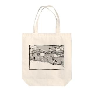 駅前 Tote bags