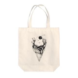 オバケちゃんのアイス Tote bags