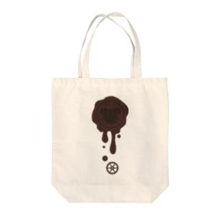 チョコ好きさんへ♪【ビターチョコ】healing-honey蝋封風ロゴモチーフ Tote bags