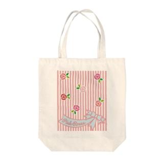 Pink Roses Tote bags