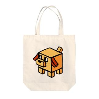 キューブ犬 Tote bags