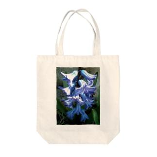 スカイヴァイオレット Tote bags