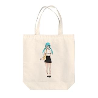 水花ちゃん Tote bags