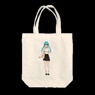 ぬけげマンの水花ちゃん Tote bags