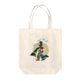 お正月 Tote bags