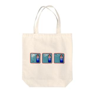 ピクセルアート-殺虫剤3コマ トートバッグ