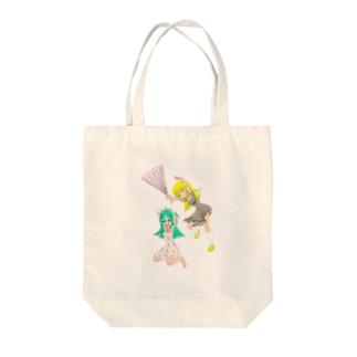 ハリセンアタック Tote bags