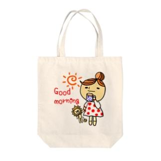 楽しい朝のマグカップ Tote bags